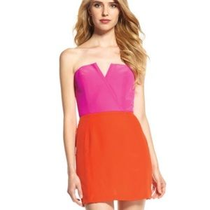 Naven Bombshell Color Black Pink & Orange Dress
